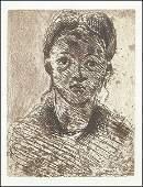 AFTER PAUL CEZANNE (FRENCH, 1839-1906) TETE DE FEMME.
