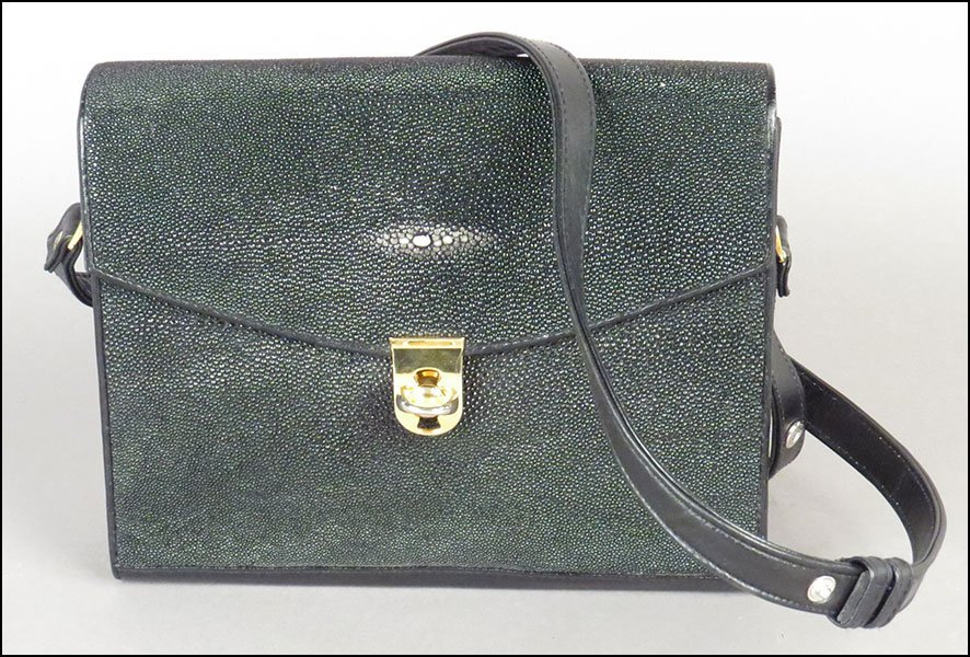 KISMET SHAGREEN SHOULDER BAG. 8.25'' x 10'' x 2.75''
