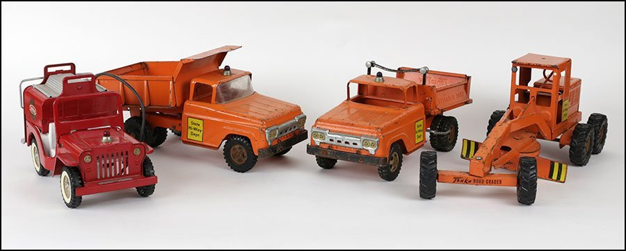 COLLECTION OF TONKA STEEL STATE HIGHWAY TRUCKS.