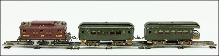 A LIONEL THREE-CAR NEW YORK CENTRAL LINES TRAIN.