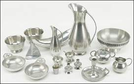 COLLECTION OF DUTCH, NORWEGIAN, AND AMERICAN PEWTER.