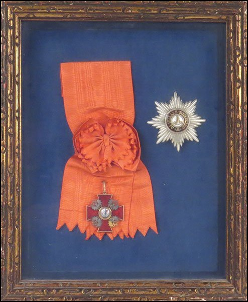 TWO FRAMED RUSSIAN MEDALS. - 4