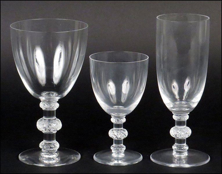A COLLECTION OF LALIQUE STEMWARE.