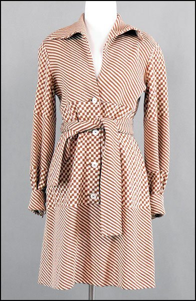 A RUDI GERNREICH DESIGN FOR HARMON KNITWEAR BROWN AND C