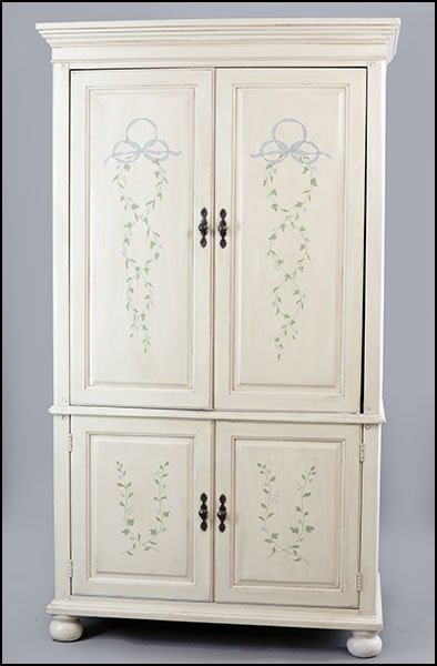 CONTEMPORARY PAINTED ARMOIRE.