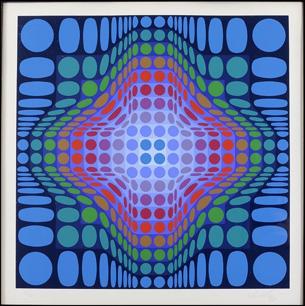 VICTOR VASARELY (FRENCH-HUNGARIAN, 1906-1997) K.S.T.
