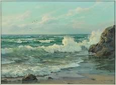 CHARLES VICKERY (AMERICAN, 1913-1998) WAVES AT THE