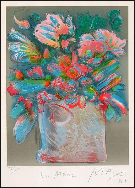 PETER MAX (AMERICAN, B. 1937) FLOWER BOUQUET.