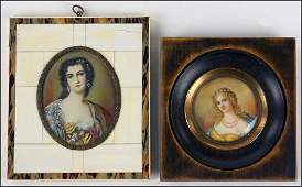 TWO 19TH CENTURY CONTINENTAL SCHOOL PORTRAIT