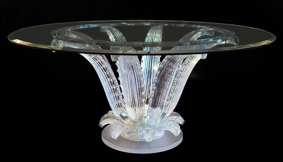 A LALIQUE 'CACTUS' ROUND TABLE.
