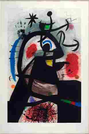JOAN MIRO (SPANISH, 1893-1983) LE PERMISSIONNAIRE.
