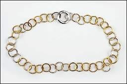 A POMELLATO DIAMOND 18 KARAT WHITE GOLD AND YELLOW