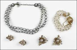 A COLLECTION OF MIRIAM HASKELL FAUX BAROQUE PEARL