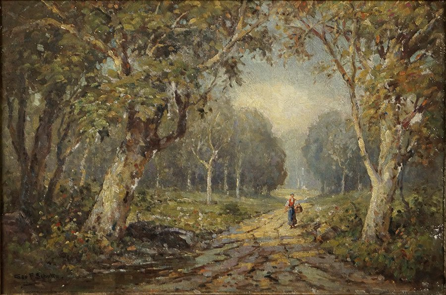 GEORGE F. SCHULTZ (AMERICAN, 1869-1934) LANDSCAPE WITH