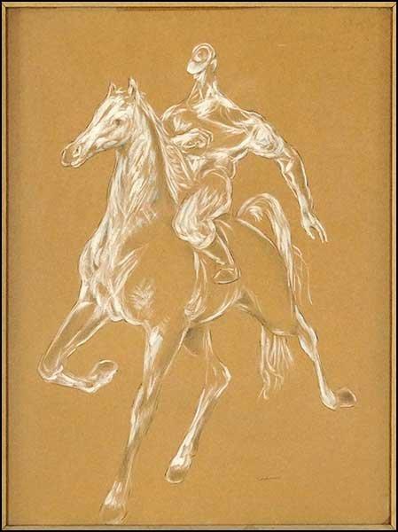 JON CORBINO (AMERICAN, 1905-1964) HORSE AND RIDER.