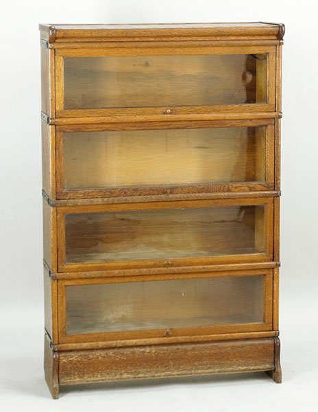 An Oak Barrister Bookcase.