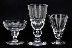 A Set of Steuben Crystal Stemware in the 'Baluster'