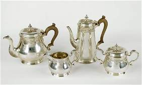 An English Sterling Silver Tea and Coffee Service.