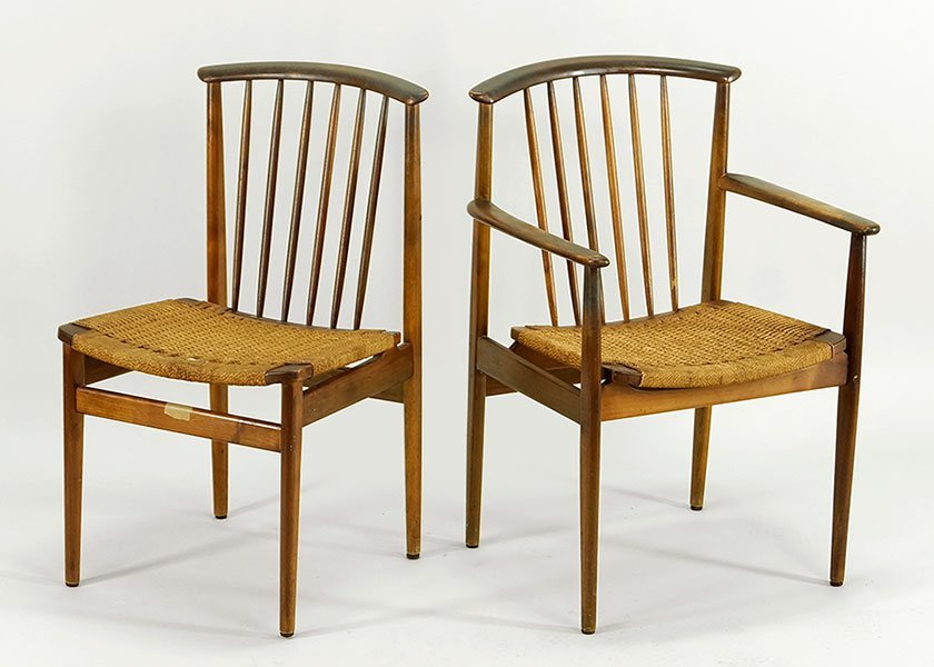 A Set of Six Swedish Dux Teak Dining Chairs. - 2