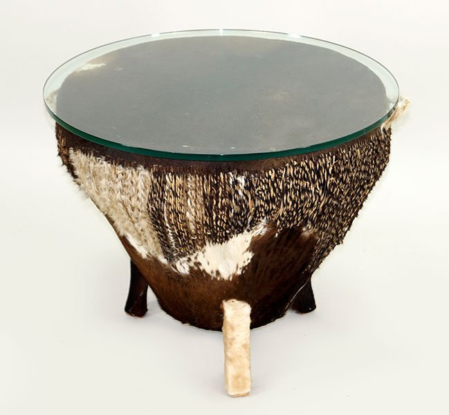An African Drum Table.