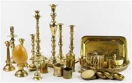 A Collection Of Brass Decorative Articles