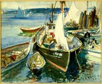James Sessions (1882-1962) The Marina.