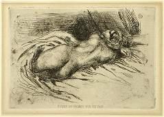 Eugene Delacroix (French, 1798-1863) Etude de Femme Vue