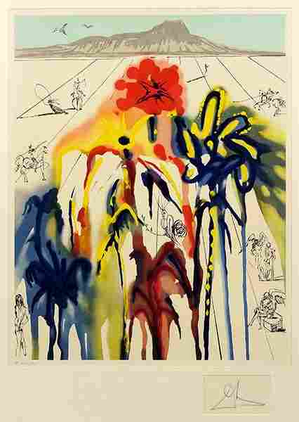 Salvador Dali (Spanish, 1904-1989) Diamond Head.
