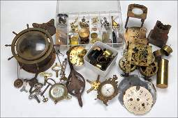 A Collection Of Clock Parts.