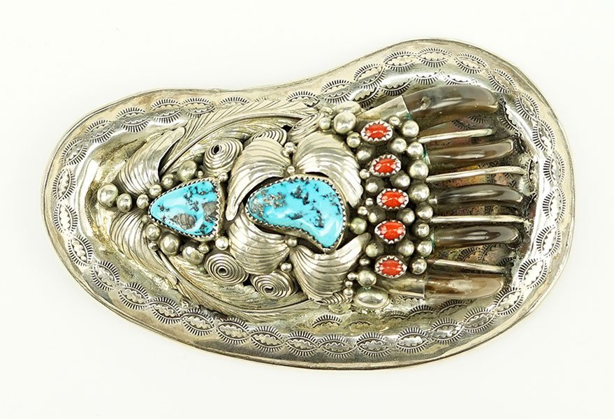 An Elaine Sam Sterling Silver, Turquoise, And Coral