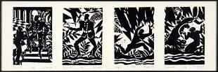 Aaron Douglas (American, 1898-1979) Suite of Woodblock