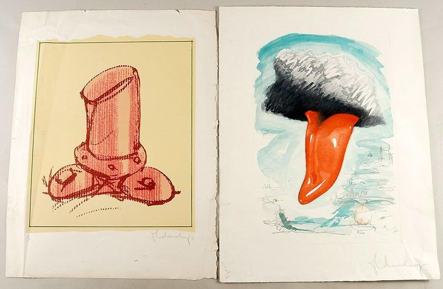 Claes Oldenburg (American, B. 1929) Tongue Cloud Over