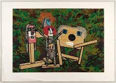 Enrico Baj (Italian, 1924-2003) Figures.