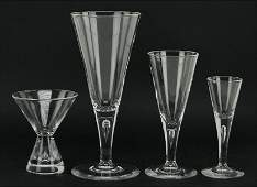 A Steuben Crystal Stemware Service.