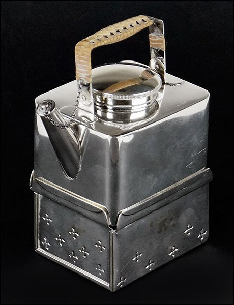 An English Silver Individual Teapot.