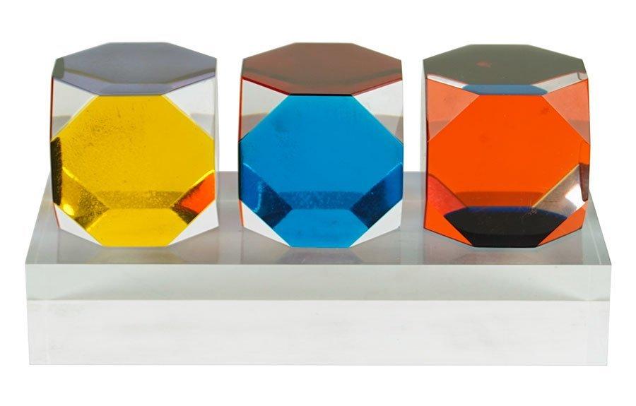 Vasa Velizar Mihich (B. 1933) Three Cubes.
