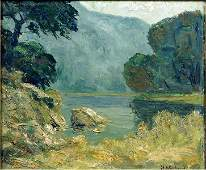 Mabel May Woodward (American, 1877-1945) Landscape With