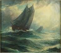 Harry Mann Waddell (American, 1876-1956) Stormy Seas.