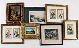 Collection of Framed Items.