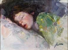 Guiseppe D'Angelico Pino (Italian, 1939-2010) Sleeping