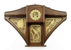 A French Art Nouveau Wall Clock