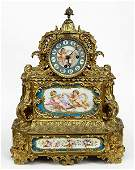A French Gilt Bronze Mantle Clock