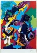 Karel Appel (Dutch, 1921-2006) Composition.