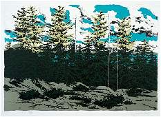 Neil Welliver (American, 1929-2005) Maine Landscape.