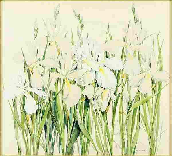 Jane Peterson (American, 1876-1965) Irises.