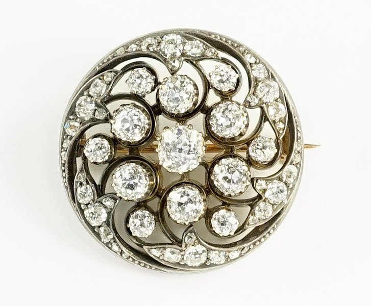 A Victorian Diamond Brooch.
