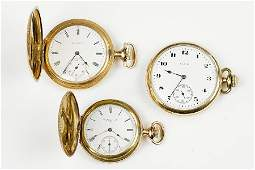 Three Elgin Gold Filled Pocket Watches