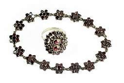 A Victorian Garnet Bracelet