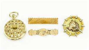 A Victorian 9 Karat Yellow Gold Bar Pin