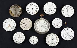 A Collection of Pocket Watch Movements.